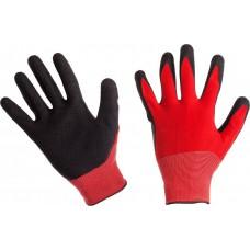 Перчатки Нейлон облитые текстурированным Латексом (L) *12*600
