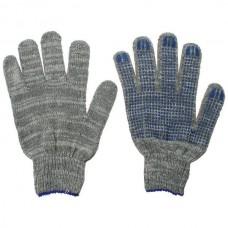 Перчатки ХБ 6 нити с ПВХ серые (10кл) *10*250