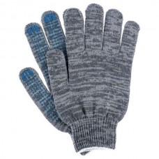 Перчатки ХБ 4 нити с ПВХ серые (10кл) *10*500
