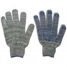 Перчатки ХБ 5 нити с ПВХ серые (10кл) *10*250