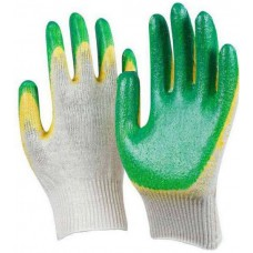 Перчатки ХБ с двойным латексным покрытием *10*200