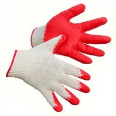 Перчатки ХБ с одинарным латексным покрытием *10*300