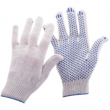 Перчатки ХБ 3 нити ПВХ белые (10кл) *10*500