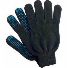 Перчатки ХБ 4 нити с ПВХ черные (10кл) *10*500