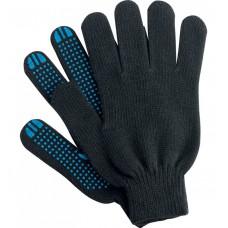 Перчатки ХБ 5 нити с ПВХ черные (10кл) *10*250